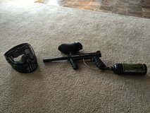 Tippmann paintball gun and mask and tank in Byron, Georgia
