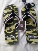 *** SEATTLE SEAHAWKS Camo Flip Flops (Men's Large)*** NEW with TAGS in Tacoma, Washington