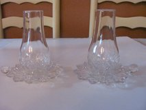Pair of Crystal Hurricane candle holders in Kingwood, Texas