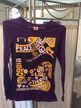 ***Ladies Peace & Love LSU L/S Shirt***SZ Medium in Sugar Land, Texas