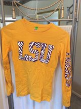 ***Ladies L/S Gold LSU Shirt***SZ Small in Sugar Land, Texas