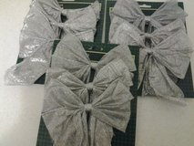 NEW - Silver/Green Christmas Tree Bows in Eglin AFB, Florida