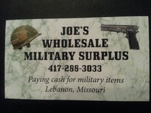 Pay CASH for miltary items in Fort Leonard Wood, Missouri