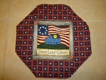 "New 17"" Handmade Patriotic Table Topper/Mat 2 in Byron, Georgia"