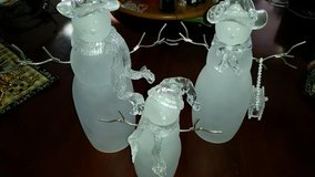 Glass 3 Piece Snow Man Family in Fort Campbell, Kentucky