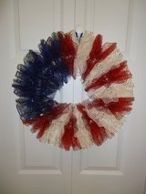 "New 20"" Homemade Patriotic Wreath in Byron, Georgia"