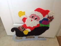 "VINTAGE ""SANTA ON THE SLEIGH"" MELTED POPCORN MATERIAL 1960'S in Camp Lejeune, North Carolina"
