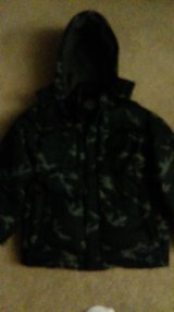 Camo Down Winter Jacket Boy Large in Aurora, Illinois