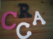 wood letters in Spring, Texas