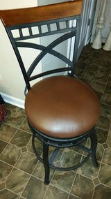 New / Iron / Leather Swivel Bar Stool in Fort Campbell, Kentucky