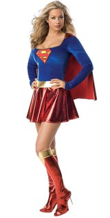 Supergirl Deluxe Adult Costume Size M in Fort Benning, Georgia
