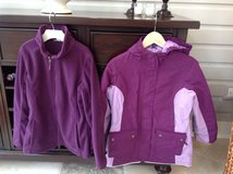Girls Lands End Purple 3-in-1 Parka-Winter Coat + Matching Snowpants Size 10-12 in Plainfield, Illinois