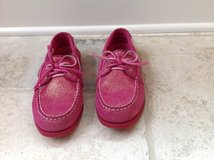 Girls Pink Sparkle Sperry Top-Siders Size 3 in Plainfield, Illinois
