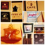 Kitchen Coffee Cup Sign Kitchen Cafe Curtains Wall Decor Plaques Signs Valances in Plainfield, Illinois