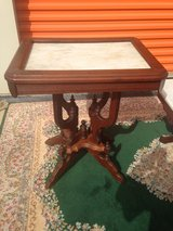 Walnut Victorian Marble Tables in Cherry Point, North Carolina