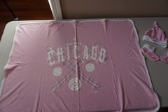Girls Chicago Cubs Infant Blanket, Hat, and Booties in Bolingbrook, Illinois