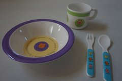 Kids Animal Cup, Fork, Spoon, and Bowl in Plainfield, Illinois