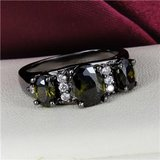 NEW - Olive Green Quartz and Black Ring - Size 7 in Alamogordo, New Mexico