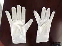 Girls White Satin Gloves - Ages7-8 in Westmont, Illinois