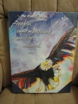 """NIP """"FREEDOM CANNOT BE BESTOWED IT MUST BE ACHIEVED"""" ART WORK in Camp Lejeune, North Carolina"""