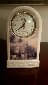 Victorian Christmas Thomas Kinkade Porcelain Mantel Clock in Westmont, Illinois