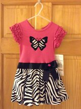 NWT - Pink & Zebra Stripped Dress (2T) in Beaufort, South Carolina