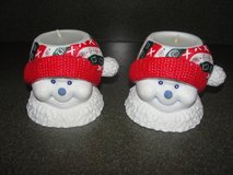"ADORABLE ""CHRISTMAS SNOWMAN"" CERAMIC HOLDER & CANDLE in Camp Lejeune, North Carolina"