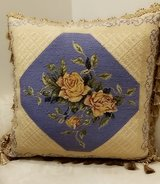 large Decorative Pillow with Yellow Roses in Westmont, Illinois