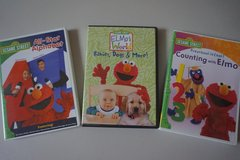 Sesame Street 3 pack Elmo DVD Movies in Chicago, Illinois