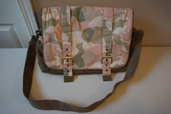 Wendy Bellissimo Pink Camo Diaper Bag with Changing Pad in Plainfield, Illinois