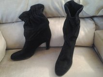 Black Suede Leather  Dress Boots in Glendale Heights, Illinois