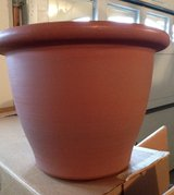 Large Plastic Clay Colored Planter in Naperville, Illinois
