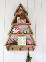 Wood Christmas tree shelf wall xmas shelves in Camp Lejeune, North Carolina