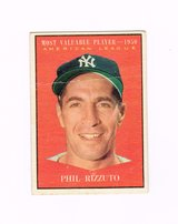 1961 #471 PHIL RIZZUTO 1950 A.L.MOST VALUABLE PLAYER YANKEES TOPPS BASEBALL CARD in Naperville, Illinois