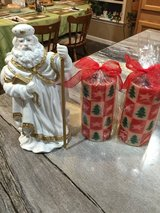 Santa Musical Figure & Candles in Fort Campbell, Kentucky