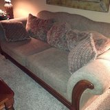 Sofa and club chair in Yorkville, Illinois