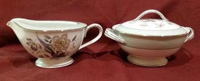 Vintage Noritake Shasta Pattern Creamer and Sugar Bowl in 29 Palms, California