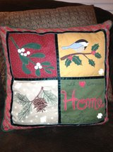 Festive Holiday Pillow in Aurora, Illinois