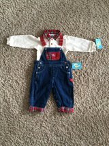 Boys 12 months-Overall Outfit-NWT in Lockport, Illinois