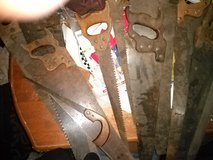 Antique hand saws in Fort Riley, Kansas