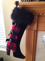 HIGH HEEL SHOE BOOT & Buckles Plaid Collection Christmas Holiday XL Rare Stocking in Glendale Heights, Illinois