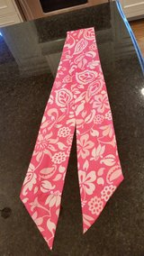 Pink Satin Scarf with White design in Orland Park, Illinois