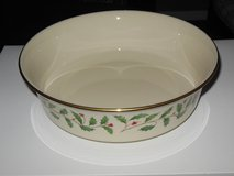 Lenox Holiday serving dish made in USA in St. Charles, Illinois