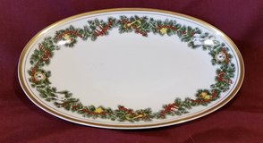 "St. Nicholas by Fitz & Floyd, Relish Dish, 9-3/4"" long, Made in Japan in 29 Palms, California"