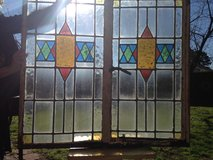 50% OFF ALL Leaded English Stain Glass Window's Pair in  Frame in Cherry Point, North Carolina