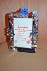 Antique Repurposed Silver 5X7 Table Top Frame with Vintage Jewelry in Warner Robins, Georgia