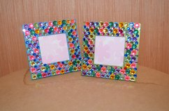 Wooden Table Top Picture Frame with plastic Rhinestones in Warner Robins, Georgia