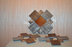 Set of 3 Wooden decorative mirrors in Byron, Georgia
