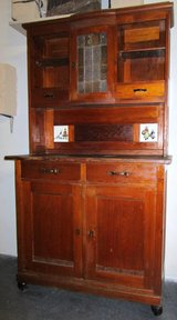 Antique Buffet with Stained Glass and Dutch T... in Ramstein, Germany