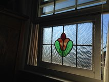 English Leaded Stain Glass Window in Cherry Point, North Carolina